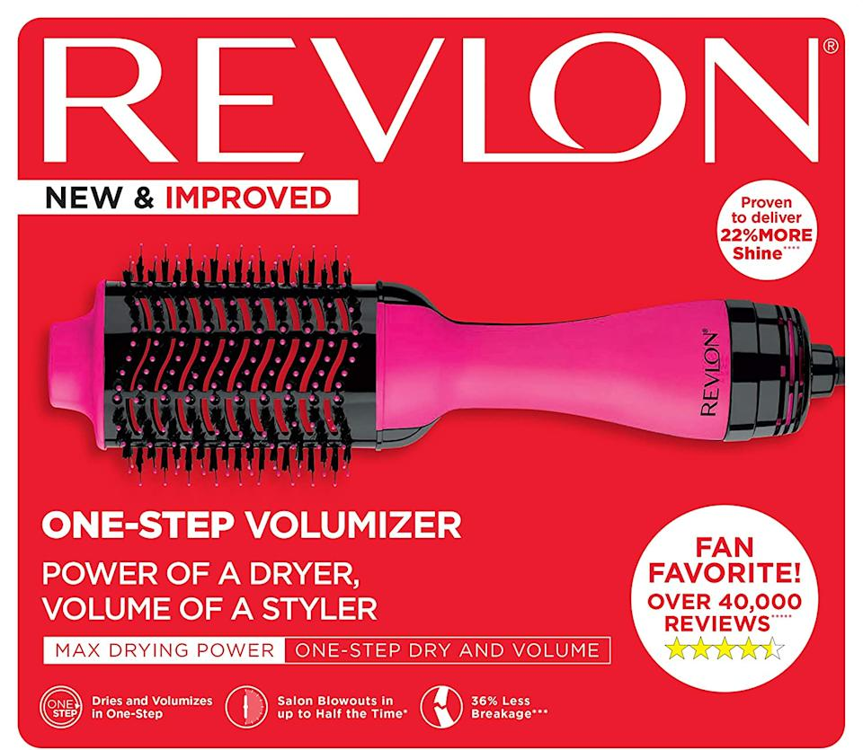 Revlon Salon One Step Hair Dryer & Volumizer - Pink [Photo via Amazon]