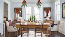 """<p>It's here: Our ultimate guide to the best Christmas decorating ideas! Deck the halls (and every single room in your house) with our best Christmas decorations. From <a href=""""https://www.countryliving.com/home-design/decorating-ideas/tips/g1251/trim-christmas-trees-1208/"""" rel=""""nofollow noopener"""" target=""""_blank"""" data-ylk=""""slk:Christmas tree decorations"""" class=""""link rapid-noclick-resp"""">Christmas tree decorations</a> to <a href=""""https://www.countryliving.com/home-design/decorating-ideas/tips/g1541/outdoor-christmas-decorations/"""" rel=""""nofollow noopener"""" target=""""_blank"""" data-ylk=""""slk:outdoor Christmas decorations"""" class=""""link rapid-noclick-resp"""">outdoor Christmas decorations</a> and even <a href=""""https://www.countryliving.com/diy-crafts/g2734/christmas-door-decorations/"""" rel=""""nofollow noopener"""" target=""""_blank"""" data-ylk=""""slk:Christmas door decorations"""" class=""""link rapid-noclick-resp"""">Christmas door decorations</a>, our tips and tricks will have you spreading cheer all the way through the holidays. The way we see it, holiday home décor doesn't have to be expensive or time-intensive to make a big impact—in fact, it shouldn't be. Instead, each of the ideas we're presenting here makes use of tiny, affordable props, decorations, and furniture shifts so that you can build the winter wonderland you've always dreamed of—without having to empty your wallet. When it comes to color schemes, don't be afraid to stray past red and green! </p><p>Whether it's <a href=""""https://www.countryliving.com/diy-crafts/g29611648/blue-christmas-decor-ideas/"""" rel=""""nofollow noopener"""" target=""""_blank"""" data-ylk=""""slk:blue Christmas decor"""" class=""""link rapid-noclick-resp"""">blue Christmas decor</a> or something more regal like <a href=""""http://www.countryliving.com/diy-crafts/g29609172/rose-gold-christmas-decorations/"""" rel=""""nofollow noopener"""" target=""""_blank"""" data-ylk=""""slk:rose gold Christmas decorations"""" class=""""link rapid-noclick-resp"""">rose gold Christmas decorations</a>, there are Christmas decorations for """