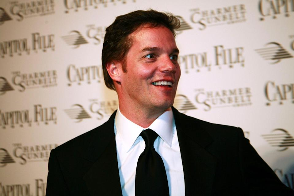 Fox News' Bill Hemmer arrives at the Capitol File hosted White House Correspondents' Association Dinner after party at the Columbian Ambassador's residence on April 21, 2007 in Washington, DC.