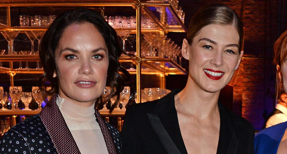 Ruth Wilson and Rosamund Pike, 2018. (Photo by David M. Benett/Dave Benett/Getty Images for IWC Schaffhausen)