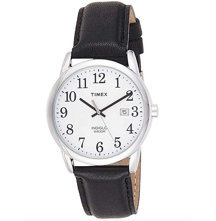 """<p><strong>Timex</strong></p><p>amazon.com</p><p><strong>$32.29</strong></p><p><a href=""""https://www.amazon.com/dp/B00YTY4AB8?tag=syn-yahoo-20&ascsubtag=%5Bartid%7C10054.g.35351418%5Bsrc%7Cyahoo-us"""" rel=""""nofollow noopener"""" target=""""_blank"""" data-ylk=""""slk:Shop Now"""" class=""""link rapid-noclick-resp"""">Shop Now</a></p><p><em>Easy Rider</em>, if Dennis Hooper was, like, really into low-key watches and not motorcycles. </p>"""