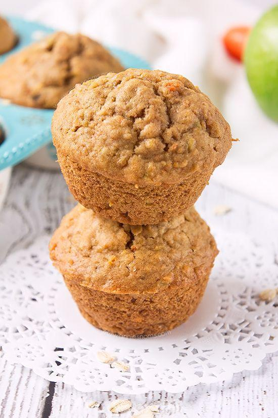 "<p>Of course you can get your daily dose of fruits and veggies from muffins.</p><p>Get the recipe from <a href=""http://www.anniesnoms.com/2015/01/15/carrot-and-apple-oat-muffins/"" rel=""nofollow noopener"" target=""_blank"" data-ylk=""slk:Annie's Noms"" class=""link rapid-noclick-resp"">Annie's Noms</a>.</p>"