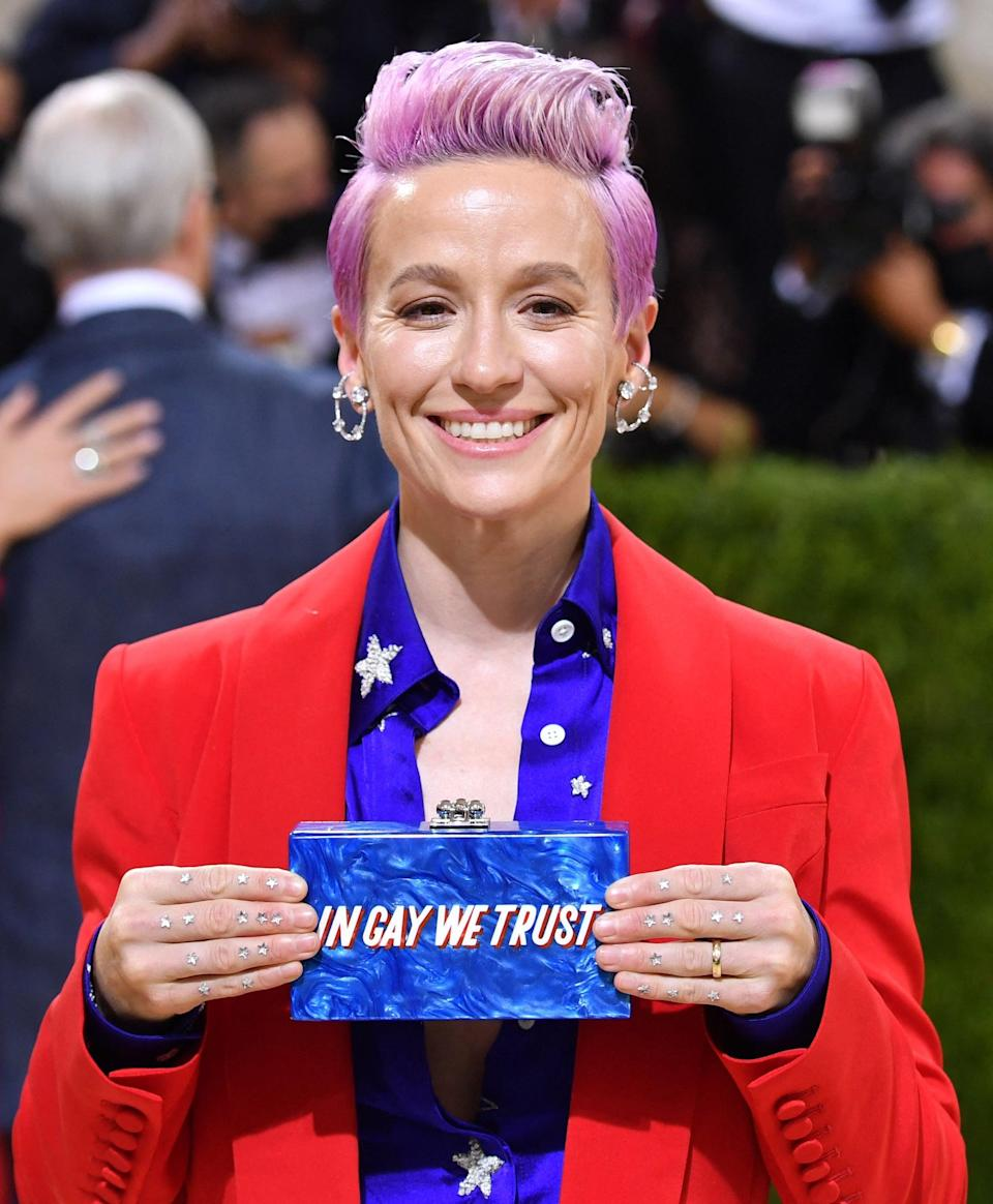 <p><em>Technically,</em> Megan Rapinoe's star-studded look is finger art rather than nail art, but nevertheless, it's amazing. Let this be a lesson to all of us to never let the art stop at the fingernails.</p>