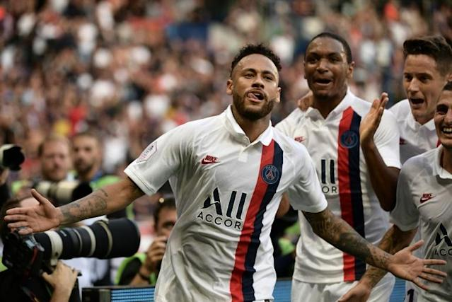 Neymar had been met with a hostile reception from PSG fans before producing a stunning last-minute winner against Strasbourg (AFP Photo/Martin BUREAU)