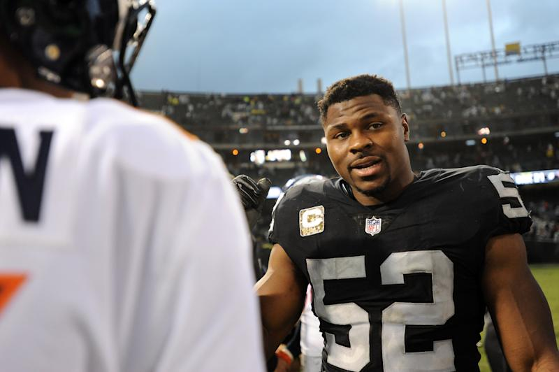 Khalil Mack will make life a little harder for quarterbacks in the NFC North. (Getty Images)