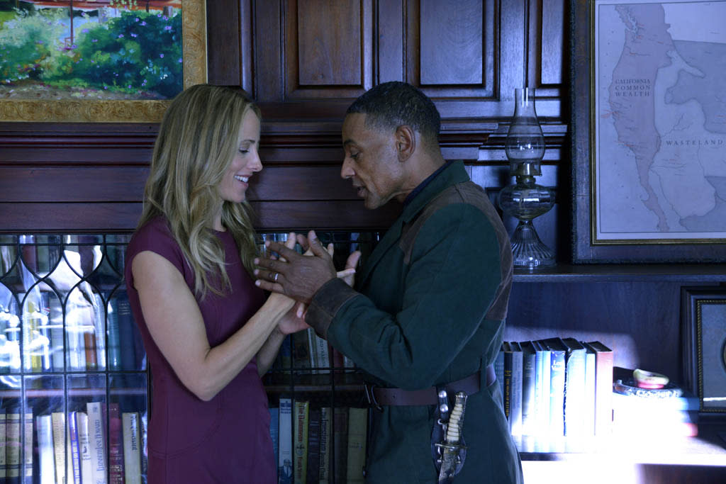"""Ties That Bind"" Episode 108 -- Pictured: (l-r) Kim Raver as Julia, Giancarlo Esposito as Captain Tom Neville"