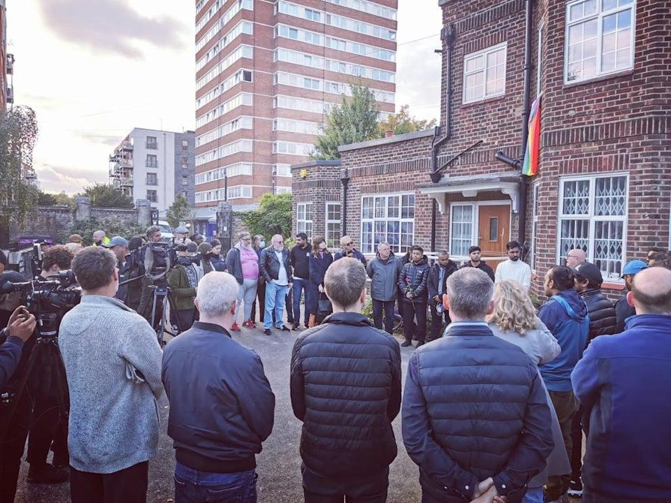 Some 80 people paid their respects to  Ranjith Kankanamalage in Tower Hamlets (Let Voice Be Heard)
