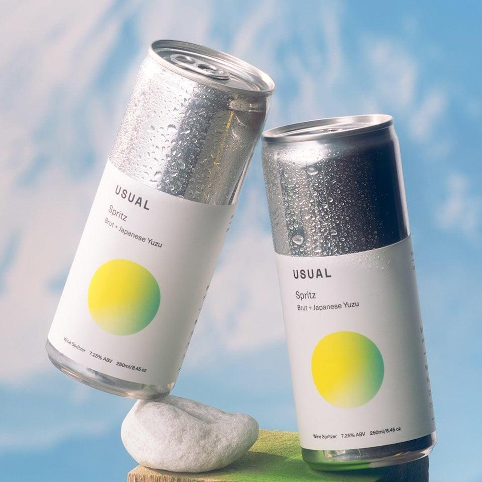 <p>Right when I opened the can of the <span>Usual Wines Yuzu Spritz</span> ($48 for 8 cans) I got good whiff of it and it was divine! It's a limited-edition wine spritzer that is a wonderful bubbly blend of Brut and Japanese Yuzu. It's light and refreshing, especially chilled on ice, and perfect for the summertime. It's so delicious and fruity with sweet citrus notes, it's practically like candy. If you love sweet drinks, you're going to be a big fan of this. It's summer vacation in a can, perfect for sunny beach days and lounging by the pool. It has 7.25 percent alcohol</p>