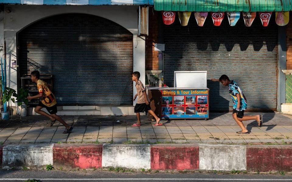 Shuttered shops in Phuket - Getty