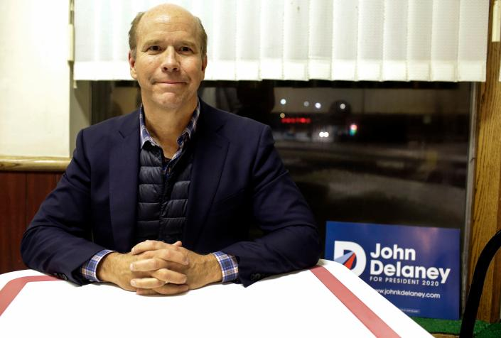 Former U.S. Rep. John Delaney, D-Md., poses for a portrait during a campaign stop in Fort Dodge, Iowa, on Jan. 31. (Photo by Joshua Lott/AFP/Getty Images)