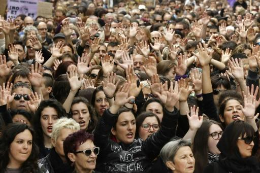 Police said tens of thousands gathered in Pamplona to protest on Saturday