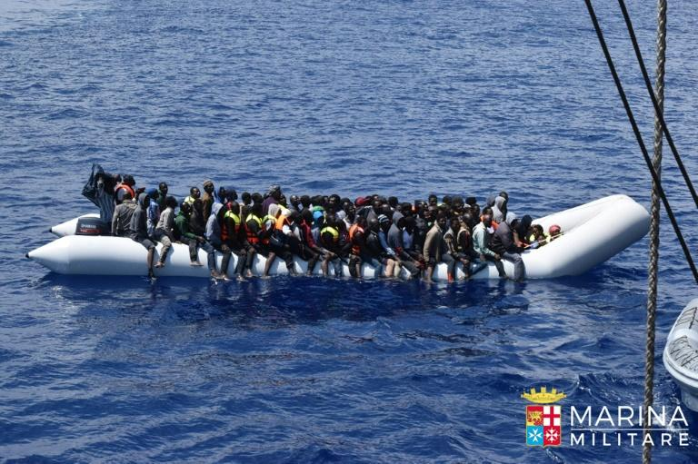 3400 refugees rescued over weekend: Italian coastguard
