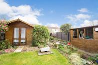"""<p>Head outside and you'll find everything from mature plants to a pretty wooden summer house — perfect for little ones to frolic in. </p><p><strong>Like this article? <a href=""""https://hearst.emsecure.net/optiext/cr.aspx?ID=DR9UY9ko5HvLAHeexA2ngSL3t49WvQXSjQZAAXe9gg0Rhtz8pxOWix3TXd_WRbE3fnbQEBkC%2BEWZDx"""" rel=""""nofollow noopener"""" target=""""_blank"""" data-ylk=""""slk:Sign up to our newsletter"""" class=""""link rapid-noclick-resp"""">Sign up to our newsletter</a> to get more articles like this delivered straight to your inbox.</strong></p><p><a class=""""link rapid-noclick-resp"""" href=""""https://hearst.emsecure.net/optiext/cr.aspx?ID=DR9UY9ko5HvLAHeexA2ngSL3t49WvQXSjQZAAXe9gg0Rhtz8pxOWix3TXd_WRbE3fnbQEBkC%2BEWZDx"""" rel=""""nofollow noopener"""" target=""""_blank"""" data-ylk=""""slk:SIGN UP"""">SIGN UP</a></p><p>Love what you're reading? Enjoy <a href=""""https://go.redirectingat.com?id=127X1599956&url=https%3A%2F%2Fwww.hearstmagazines.co.uk%2Fhb%2Fhouse-beautiful-magazine-subscription-website&sref=https%3A%2F%2Fwww.housebeautiful.com%2Fuk%2Flifestyle%2Fproperty%2Fg36274485%2Fzoopla-homes-for-sale-pretty-gardens%2F"""" rel=""""nofollow noopener"""" target=""""_blank"""" data-ylk=""""slk:House Beautiful magazine"""" class=""""link rapid-noclick-resp"""">House Beautiful magazine</a> delivered straight to your door every month with Free UK delivery. Buy direct from the publisher for the lowest price and never miss an issue!</p><p><a class=""""link rapid-noclick-resp"""" href=""""https://go.redirectingat.com?id=127X1599956&url=https%3A%2F%2Fwww.hearstmagazines.co.uk%2Fhb%2Fhouse-beautiful-magazine-subscription-website&sref=https%3A%2F%2Fwww.housebeautiful.com%2Fuk%2Flifestyle%2Fproperty%2Fg36274485%2Fzoopla-homes-for-sale-pretty-gardens%2F"""" rel=""""nofollow noopener"""" target=""""_blank"""" data-ylk=""""slk:SUBSCRIBE"""">SUBSCRIBE</a></p>"""