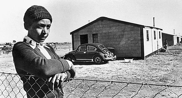 Winnie Madikizela-Mandela during her exile in Brandfort, South Africa. (Photo: Peter Magubane/Avusa Archives/Gallo Images/Getty Images)