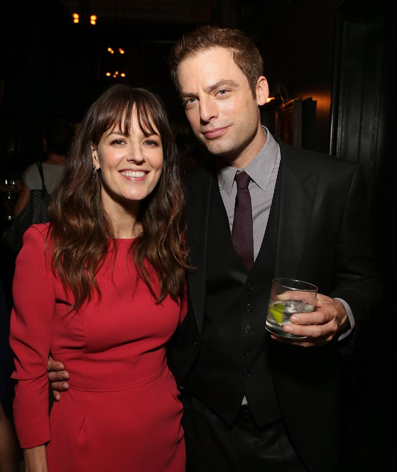 Rosemarie DeWitt and Justin Kirk attend the Los Angeles premiere of 'Nobody Walks' after party at Wood & Vine on October 2, 2012 in Hollywood, California.  (Photo by Jesse Grant/WireImage)