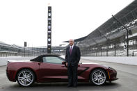 Penske Corporation Chairman Rodger Penske poses for a photo on the front straight away of the Indianapolis Motor Speedway following a news conference in Indianapolis Monday, Nov. 4, 2019. Indianapolis Motor Speedway and the IndyCar Series were sold to Penske Entertainment Corp. in a stunning move Monday that relinquishes control of the iconic speedway from the Hulman family after 74 years. (AP Photo/AJ Mast)