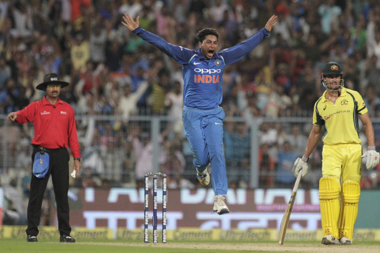 <p>Kuldeep Yadav created magic by becoming the third Indian bowler only to take a hat trick in ODIs. The stage couldn't have been bigger with a formidable opponent in Australia and a packed house at the Eden Gardens. </p>