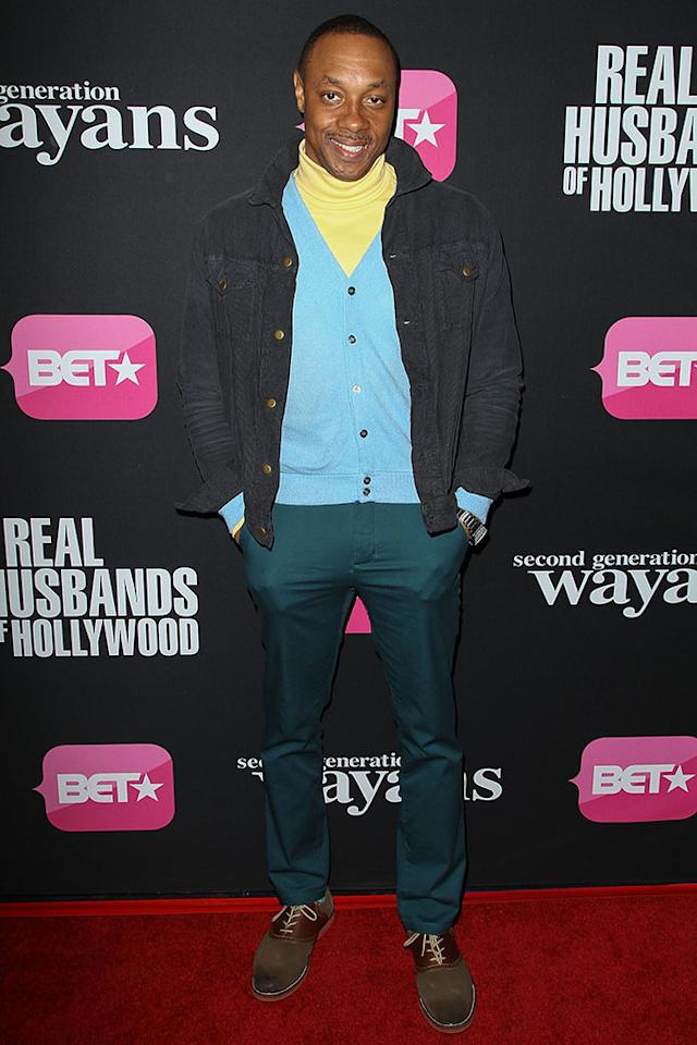 "Dorian Missick arrives at the screenings of BET Networks' ""Real Husbands of Hollywood"" and ""Second Generation Wayans"" held at the Regal Cinemas L.A. Live on January 8, 2013 in Los Angeles, California."