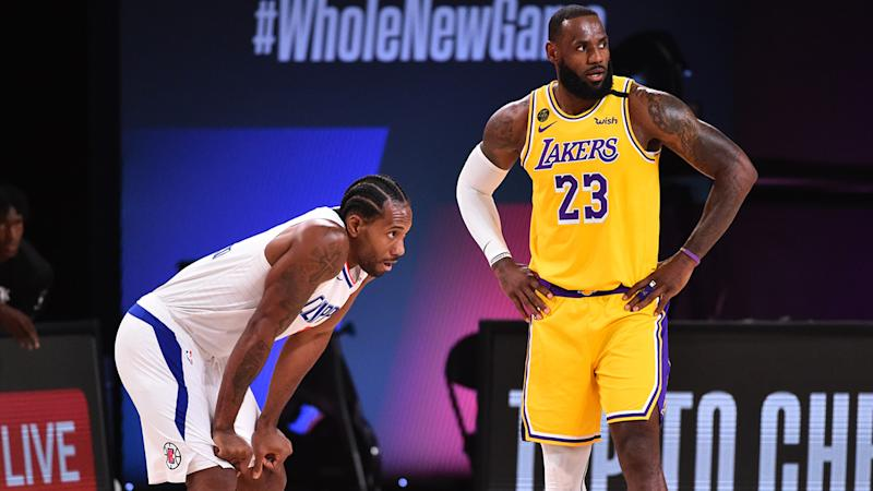 Kawhi Leonard and LeBron James have reportedly both argued NBA players should consider calling off the rest of the season in an effort to affect change. (Photo by Jesse D. Garrabrant/NBAE via Getty Images)