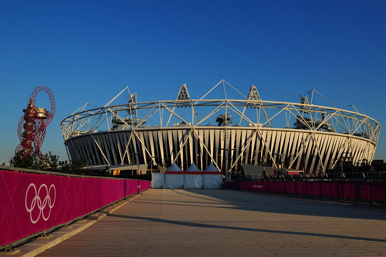 LONDON, ENGLAND - JULY 22:  A general view of the Olympic Stadium on July 22, 2012 in London, England.  (Photo by Stu Forster/Getty Images)