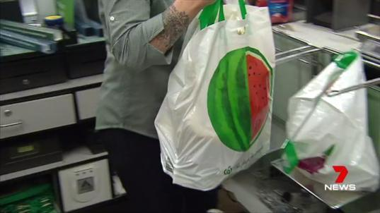 <span>Woolworths claims its reusable bags are more durable than the single-use plastic bags now banned from supermarkets</span>. Source: 7 News