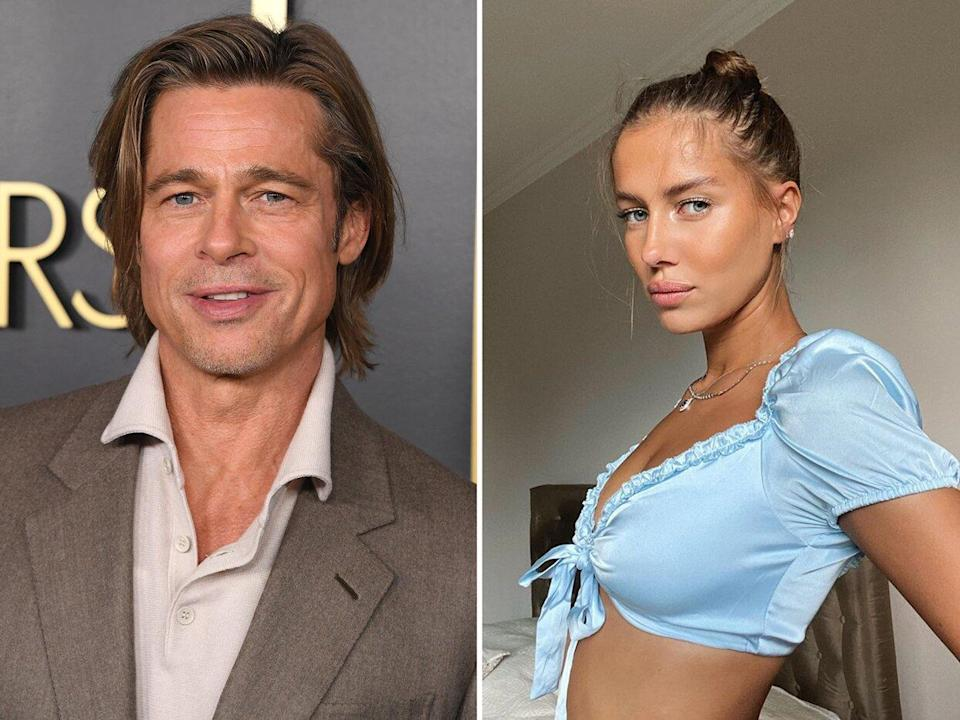 "Brad Pitt and Nicole Poturalski Broke Up ""A While Back"""