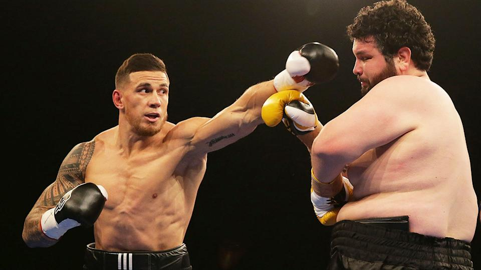 Sonny Bill Williams Williams is seen here fighting Chauncy Welliver in 2015.