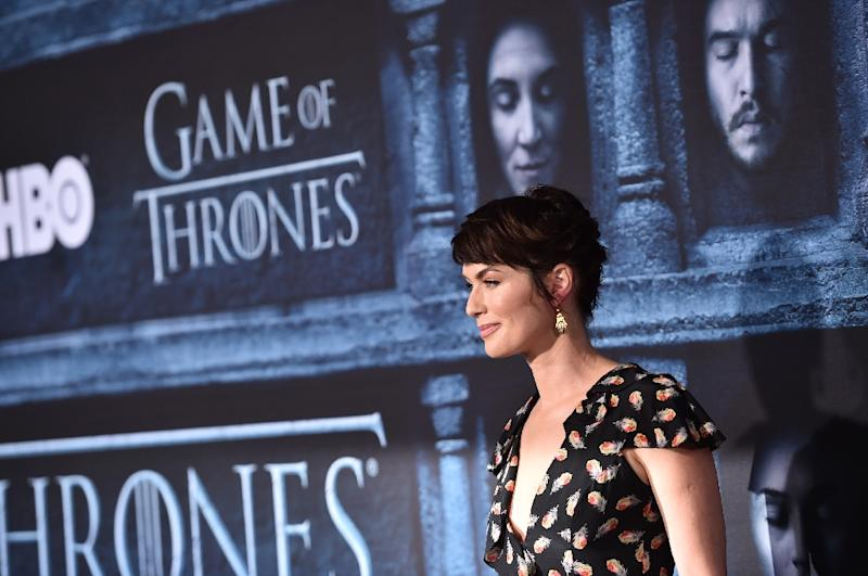 "Actress Lena Headey attends a ""Game Of Thrones"" promotional event on April 10, 2016 in Hollywood, California"