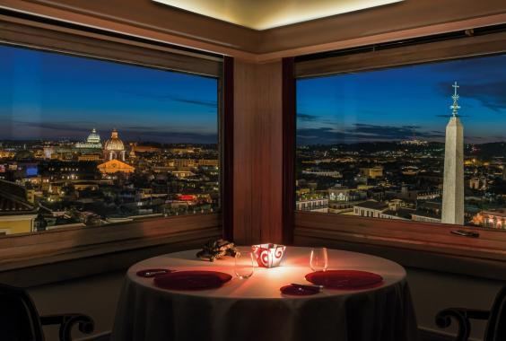 The Hassler's Michelin starred restaurant Imagò offers superb views of the city (The Hassler)