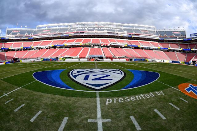 The Pac-12 has discussed the possibility of playing a conference-only schedule. (Alika Jenner/Getty Images)