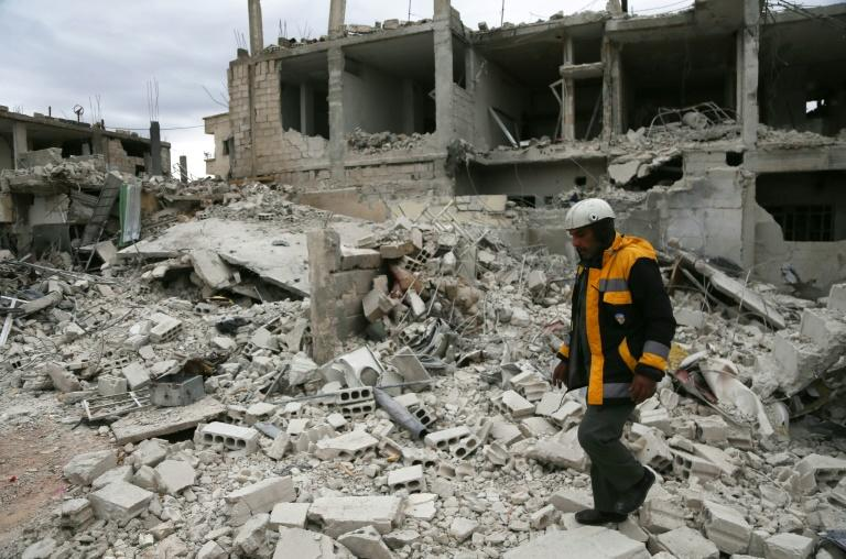 Every day since 2013, Samir Salim and his brothers have chased air strikes on Eastern Ghouta as part of the White Helmets rescue force