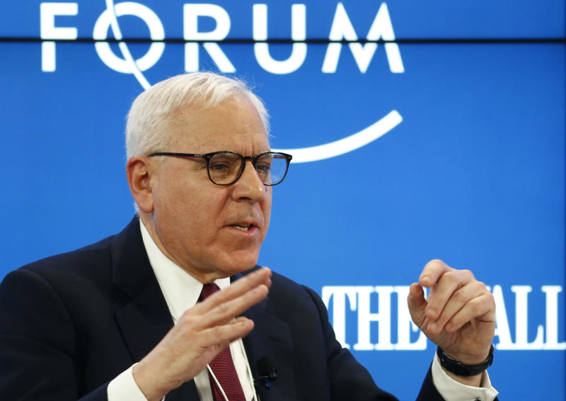 David Rubenstein, Co-Founder and Co-CEO of the Carlyle Group attends the World Economic Forum (WEF) annual meeting in Davos, Switzerland January 17, 2017. REUTERS/Ruben Sprich