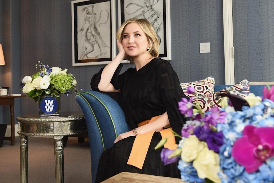 Kate Hudson with WW in NYC on January 10, 2019 in New York City.