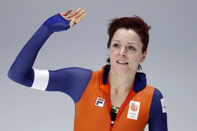 <p>Jorien ter Mors of The Netherlands not only won gold in the 1,000m but also set a new Olympic record. (AP Photo/Vadim Ghirda) </p>