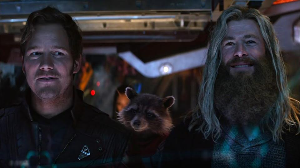 Chris Pratt and Chris Hemsworth in Avengers: Endgame (Marvel)