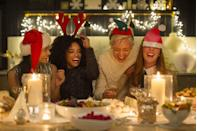 """<p>Once <a href=""""https://www.goodhousekeeping.com/holidays/gift-ideas/"""" rel=""""nofollow noopener"""" target=""""_blank"""" data-ylk=""""slk:all the gifts"""" class=""""link rapid-noclick-resp"""">all the gifts</a> have been bought, wrapped and opened; the <a href=""""https://www.goodhousekeeping.com/holidays/christmas-ideas/g29073023/easy-christmas-dinner-ideas/"""" rel=""""nofollow noopener"""" target=""""_blank"""" data-ylk=""""slk:Christmas dinner"""" class=""""link rapid-noclick-resp"""">Christmas dinner</a> has been devoured; the <a href=""""https://www.goodhousekeeping.com/holidays/christmas-ideas/g1315/best-christmas-movies/"""" rel=""""nofollow noopener"""" target=""""_blank"""" data-ylk=""""slk:holiday movies"""" class=""""link rapid-noclick-resp"""">holiday movies</a> have been watched and all memories have been made, it's time to send the kids up to bed and let your hair down a little. Break out one of these Christmas games for adults, and you're guaranteed to end the evening in good cheer.</p><p>Whether you're playing host to a big group for a Christmas party, looking to entertain a few stragglers at a family gathering or even connecting with far-flung family over zoom, these games will bring out the spirit of friendly competition. You can even play them with your coworkers for an office Christmas party, if you're able to gather in-person this year. Some will test your knowledge of holiday movies and music, some are feats of skill and others are Christmas twists on classic games you already know and love. All of them will get a round of jolly laughs from the players (especially if you up the ante with a <a href=""""https://www.goodhousekeeping.com/food-recipes/a15319/cider-hot-toddy-recipe-ghk1213/"""" rel=""""nofollow noopener"""" target=""""_blank"""" data-ylk=""""slk:hot toddy"""" class=""""link rapid-noclick-resp"""">hot toddy</a> beforehand).</p><p>Of course, the rules can be easily modified for children if you want to find some more <a href=""""https://www.goodhousekeeping.com/holidays/christmas-ideas/g2725/christmas-games/"""" rel=""""nofollow noopener"""" target=""""_blan"""
