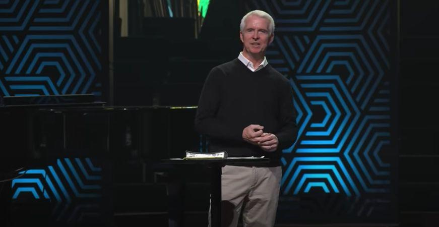 "John Ortberg, the senior pastor, completed a ""restoration plan"" set up by the church's board after its initial investigation, and returned to the pulpit in March. (Photo: Menlo Church / YouTube / Screenshot)"