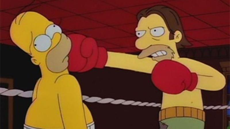His technique was likened to that of Homer Simpson's. Source: Twitter