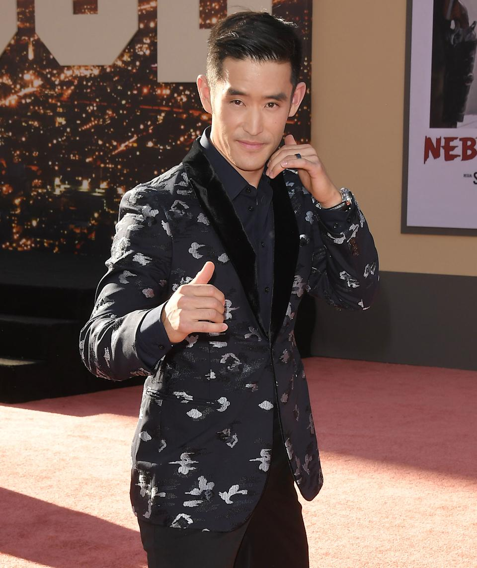 Mike Moh arrives at the ONCE UPON A TIME...IN HOLLYWOOD World Premiere held at the TCL Chinese Theatre in Hollywood, CA on Monday, July 22, 2019. (Photo By Sthanlee B. Mirador/Sipa USA)