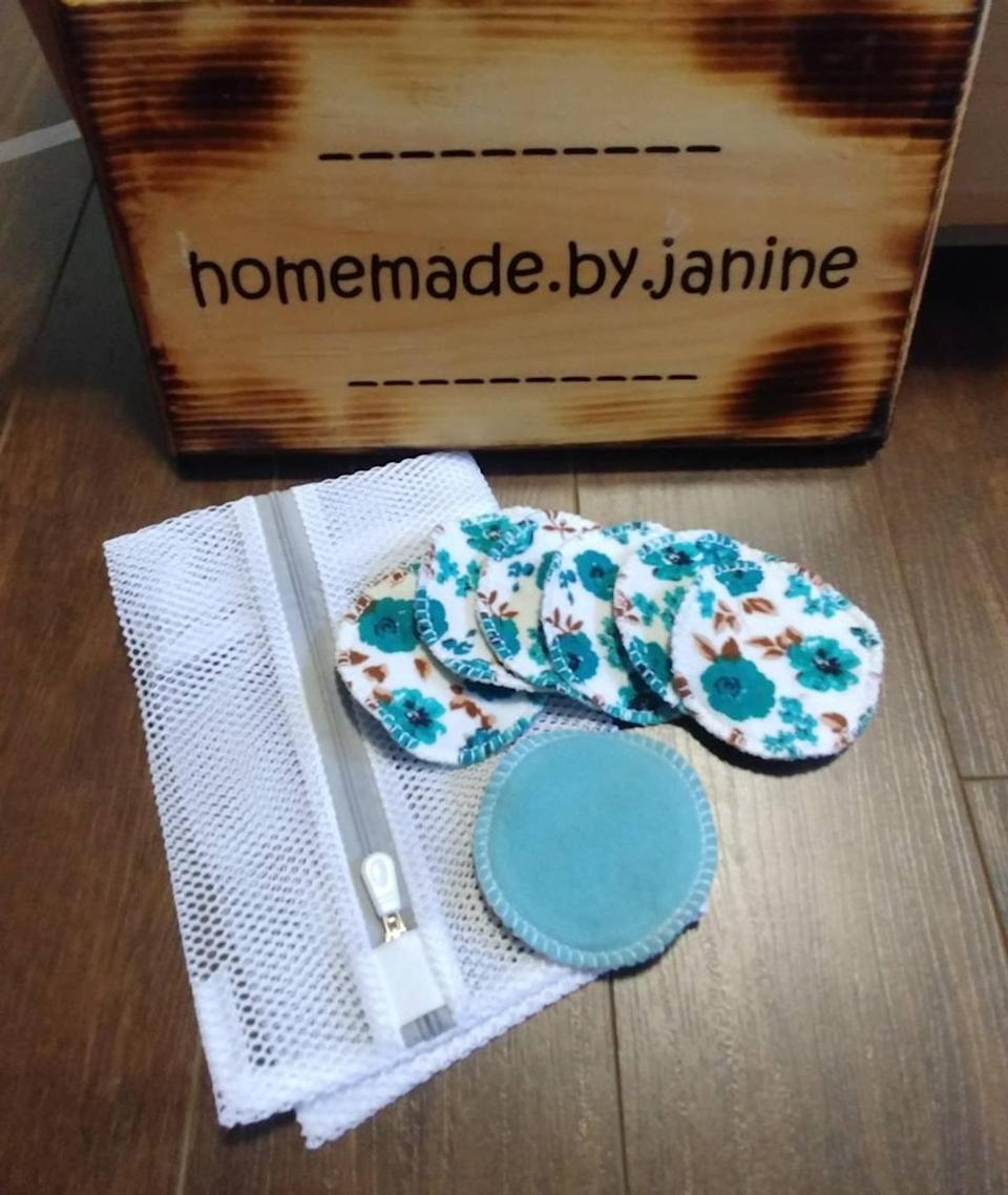 Homemade By Janine Reusable Cotton Facial Rounds (Photo via Etsy)