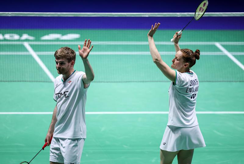 Marcus Ellis and Lauren Smith's memorable run at the Yonex All England Championships came to an end on Saturday night