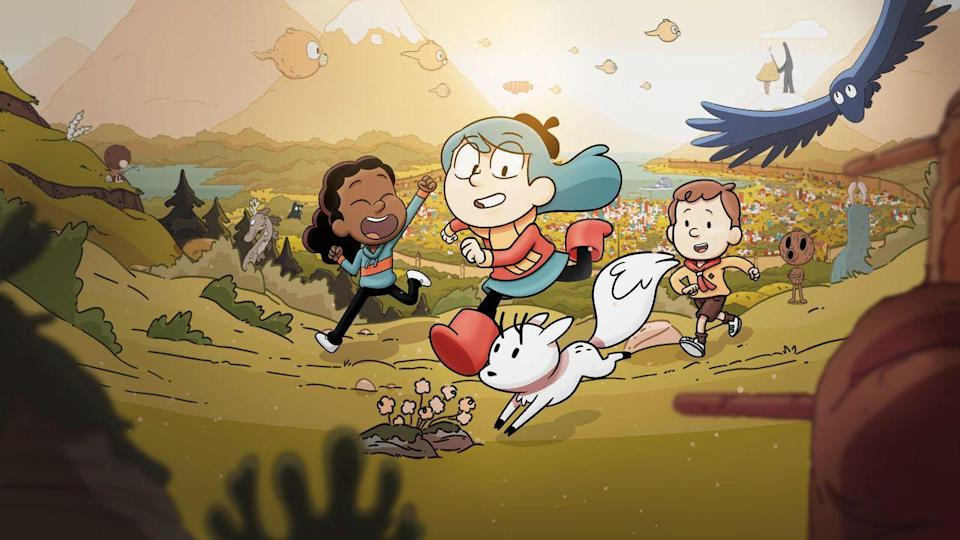 "<p>Adapted from a series of graphic novels, Hilda is a girl who is always having adventures with magical creatures, like elves and trolls, helping them solve some of their problems. The gentle stories are accompanied by some beautifully designed animation. </p><p><a class=""link rapid-noclick-resp"" href=""https://www.netflix.com/title/80115346"" rel=""nofollow noopener"" target=""_blank"" data-ylk=""slk:WATCH NOW"">WATCH NOW</a></p>"