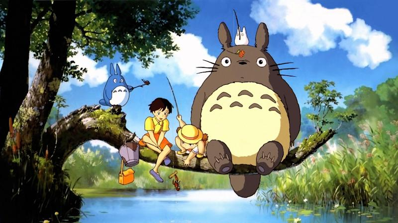 The three Totoros with Mei and Satsuki. (Studio Ghibli)