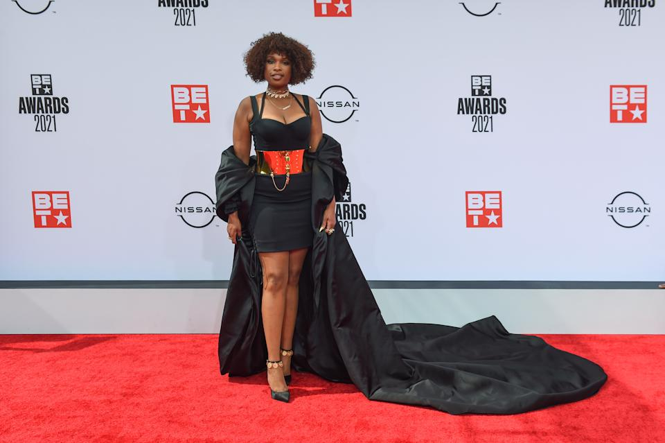 LOS ANGELES, CALIFORNIA - JUNE 27: Recording artist Jennifer Hudson attends the 2021 BET Awards at the Microsoft Theater on June 27, 2021 in Los Angeles, California. (Photo by Aaron J. Thornton/Getty Images)