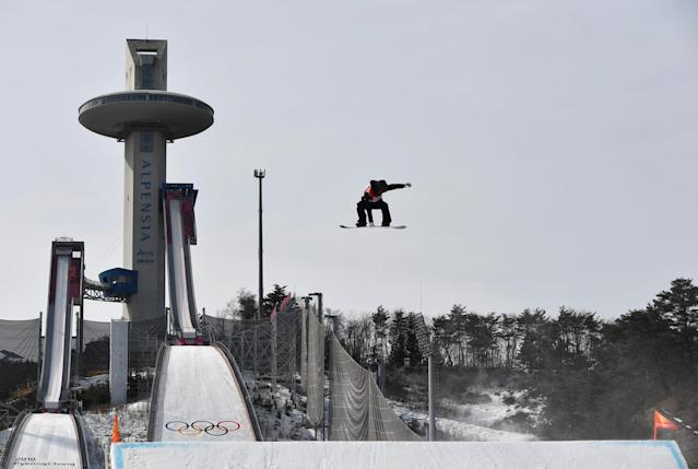 Snowboarding - Pyeongchang 2018 Winter Olympics - Men's Big Air Qualifications - Alpensia Ski Jumping Centre - Pyeongchang, South Korea - February 21, 2018 - Peetu Piiroinen of Finland competes. REUTERS/Toby Melville TPX IMAGES OF THE DAY