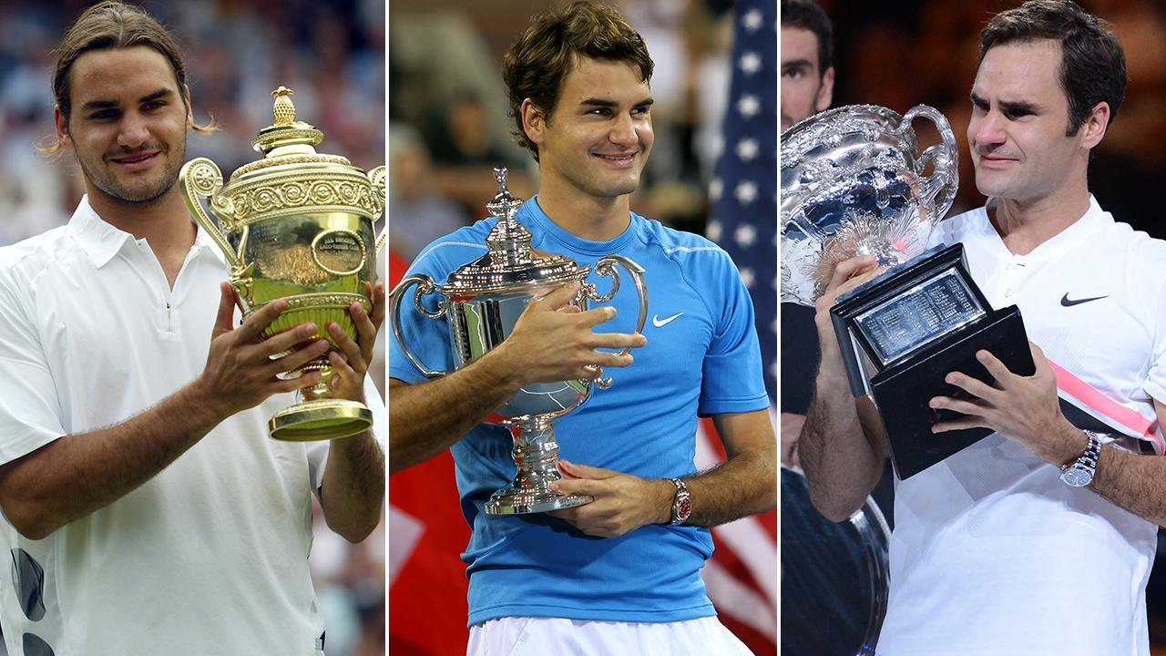 <p>Take a look back at Roger Federer's record haul of 20 grand slam titles.</p>