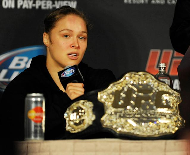 Ronda Rousey willing to move up in weight to fight Gina Carano