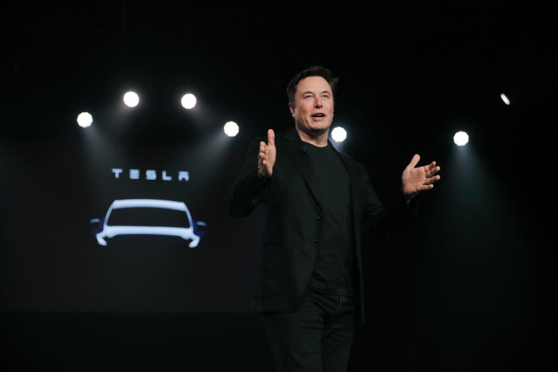 El director general de Tesla Elon Musk en un evento en Hawthorne, California el 14 de marzo del 2019. (AP Photo/Jae C. Hong, File)