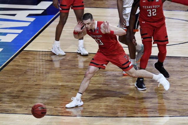 Matt Mooney #13 of the Texas Tech Red Raiders reacts against the Virginia Cavaliers in the second half during the 2019 NCAA men's Final Four National Championship game at U.S. Bank Stadium on April 08, 2019 in Minneapolis, Minnesota. (Photo by Hannah Foslien/Getty Images)