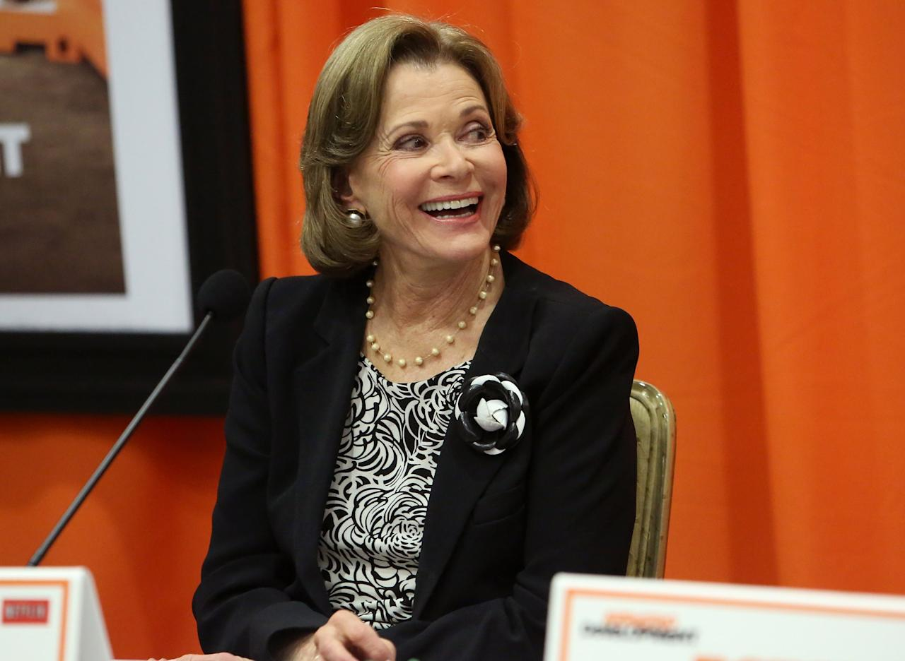 """UNIVERSAL CITY, CA - MAY 04:  Actress Jessica Walter attends The Netflix Original Series """"Arrested Development"""" Press Conference at Sheraton Universal on May 4, 2013 in Universal City, California.  (Photo by Jesse Grant/Getty Images for Netflix)"""